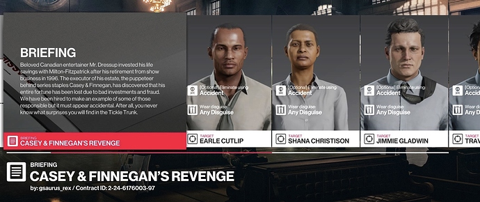 Official Hitman 2 Themed Featured Contracts August Hitman 2