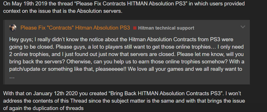 Bring Back Hitman Absolution Contracts Ps3 Hitman Technical Support Hitman Forum